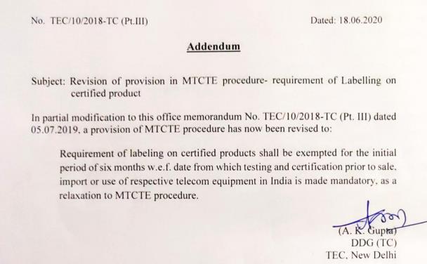 TEC/10/2018-NC